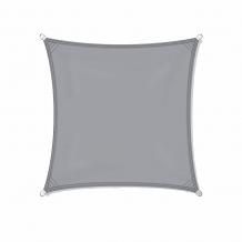 Zonnezeil 5x5m 200gr grijs waterdicht