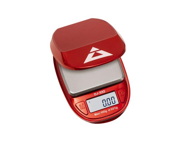 DJ-100-RD  Mini - Rood 100G X 0.01G - On Balance