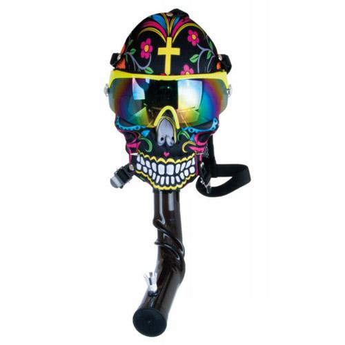 Gas mask bong multicolour skull - Dreamline