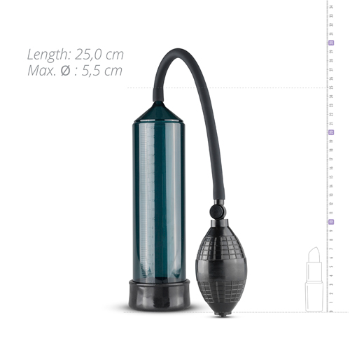 Penis Pump With Squeeze Ball - Black