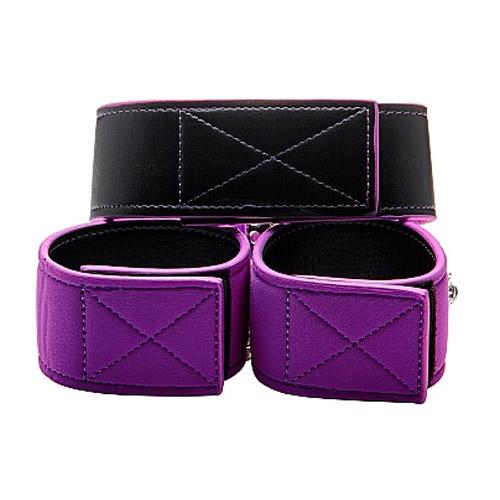 Reversible Collar and Wrist Cuffs - Purple